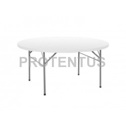 Plastic folding ronud table 153 cm