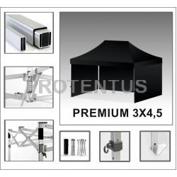 Prekybinės palapinės iš aliuminio PREMIUM 3х4,5 su 3 sienelėm