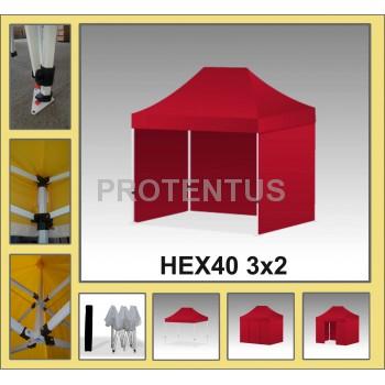 Prekybinės palapinės (įvairių spalvų) iš plieno HEX40 3х2 su 4 sienelėm  ir KREPŠIU