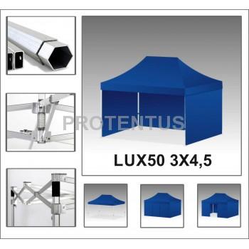 Prekybinės palapinės (įvairių spalvų) iš aliuminio LUX50 3х4,5 su 4 sienelėm ir KREPŠIU