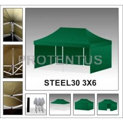 Prekybinės palapinės iš plieno STEEL30 3x6 su 4 sienelėm