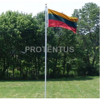 Aluminum flagpole 6m.